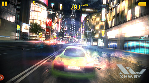 Игра Asphalt 8 на Samsung Galaxy S7 edge
