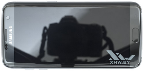 Samsung Galaxy S7 edge. Вид сверху