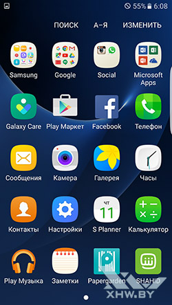Приложения Samsung Galaxy S7 edge