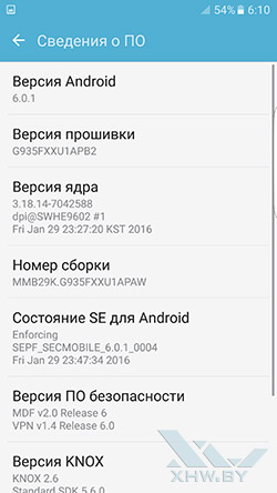 О системе Samsung Galaxy S7 edge