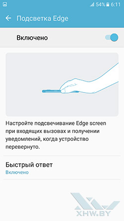 Подсветка Edge Samsung Galaxy S7 edge