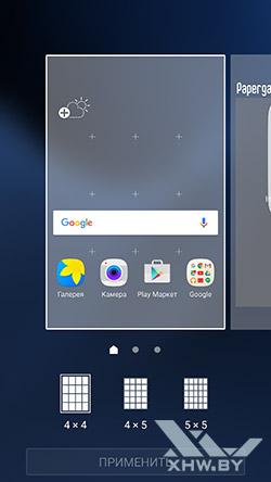 Параметры темы Рабочие столы Samsung Galaxy S7 edge
