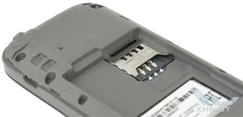Разъем для SIM-карты в Samsung SM-B105E