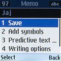 Сохранение заметки на Samsung SM-B105E