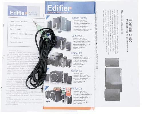 Комплектация Edifier X400