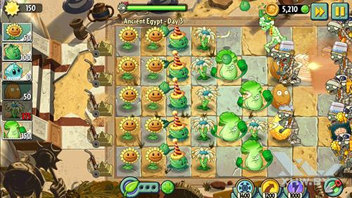 Игра Plants vs Zombies 2 на Samsung Galaxy J5 (2016)