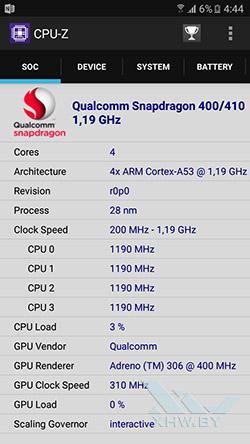 Процессор Samsung Galaxy J5 (2016)