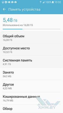 Память Samsung Galaxy J5 (2016)