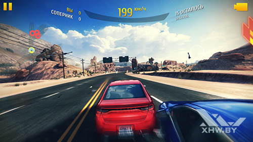 Игра Asphalt 8 на Huawei P9