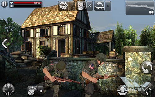 Игра Frontline Commando: Normandy на Samsung Galaxy Tab A 10.1 (2016)