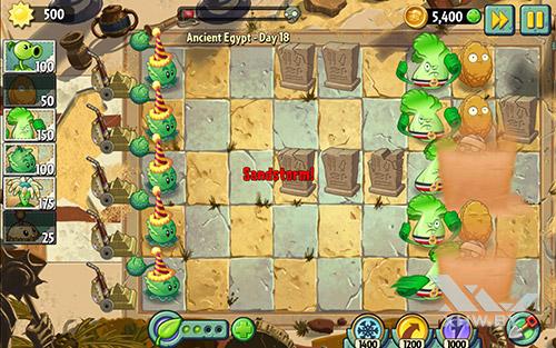 Игра Plants vs Zombies 2 на Samsung Galaxy Tab A 10.1 (2016)