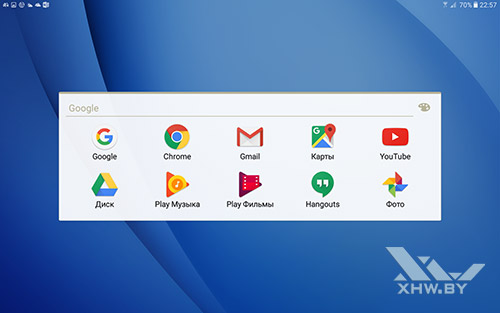 Приложения Google на Samsung Galaxy Tab A 10.1 (2016)