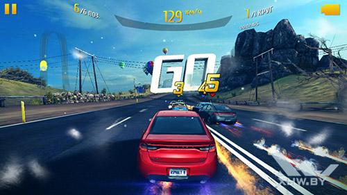 Игра Asphalt 8 на Huawei Y6 Pro