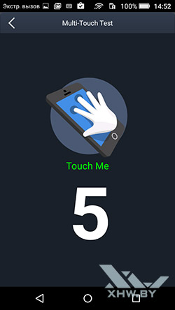 Экран Huawei Y6 Pro распознает 5 касаний