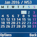 Календарь на Samsung SM-B110E. Рис. 1
