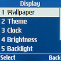 Параметры экрана Samsung SM-B110E