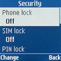 Параметры безопасности Samsung SM-B110E