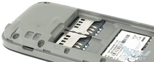 Разъемы для SIM-карт на Samsung SM-B110E