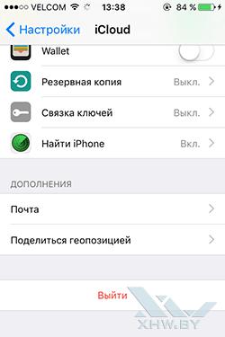 Резервная копия контактов iPhone. Рис. 1