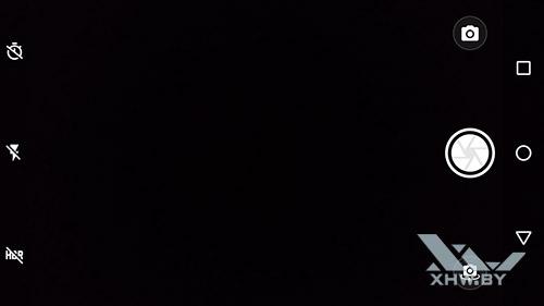 Интерфейс камеры Moto G4 общий вид
