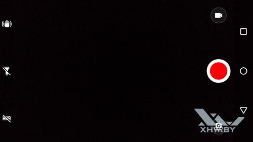 Интерфейс камеры Moto G4 в видео режиме общий вид
