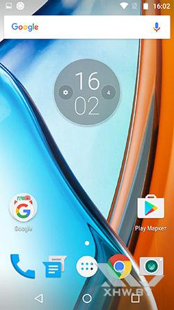 Рабочий стол Motorola Moto G4. Рис. 1