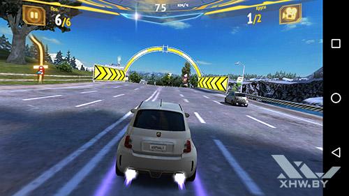 Игра Asphalt 7 на Moto G4