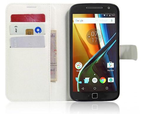 Чехол для Motorola Moto G4 с отсеком для карточек. Рис. 2