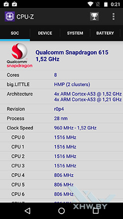 Процессор Moto G4