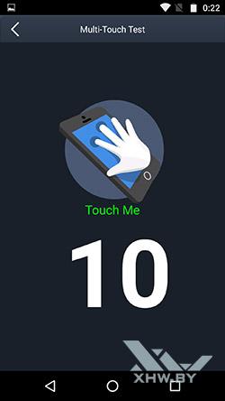 Экран Motorola Moto G4 поддерживает 10 прикосновений