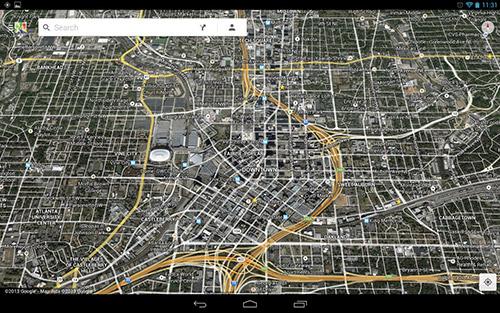 В Google Maps можно налоижть картинку со спутника