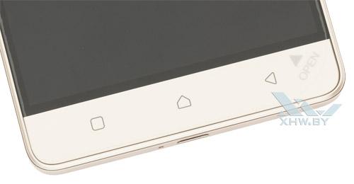 Кнопки Lenovo Vibe K5 Note под экраном