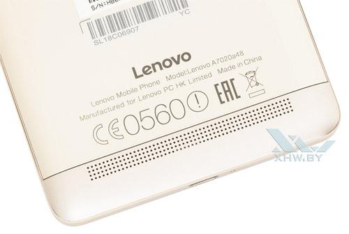 Внешний динамик Lenovo Vibe K5 Note