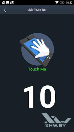 Экран Lenovo Vibe K5 Note распознает 10 одновременных касаний