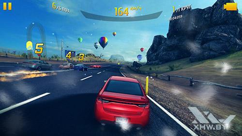 Игра Asphalt 8 на Huawei Nova