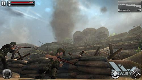 Игра Frontline Commando: Normandy на BQ Strike Selfie