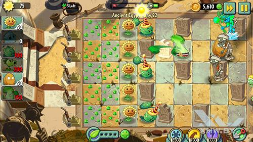 Игра Plants vs Zombies 2 на BQ Strike Selfie