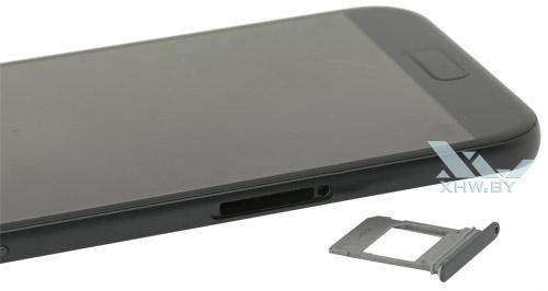 Отсек для SIM-карты на Samsung Galaxy A5 (2017)