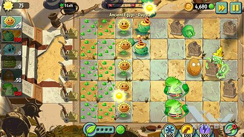 Игра Plants vs Zombies 2 на Samsung Galaxy A5 (2017)
