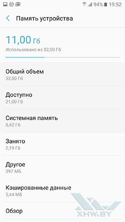 Память Samsung Galaxy A5 (2017)