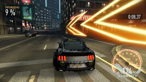 Игра Need For Speed: Most Wanted на Samsung Galaxy A3 (2017)