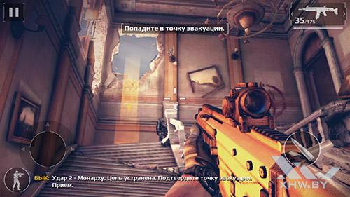 Игра Modern Combat 5 на Samsung Galaxy A7 (2017)