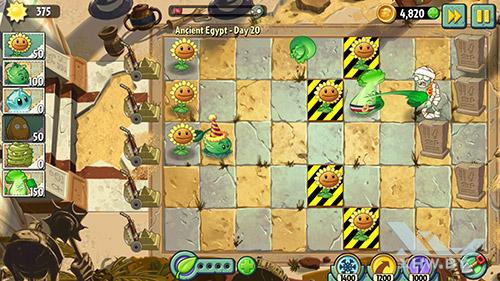 Игра Plants vs Zombies 2 на Samsung Galaxy A7 (2017)