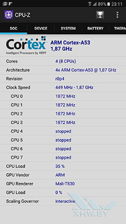 Процессор Samsung Galaxy A7 (2017)