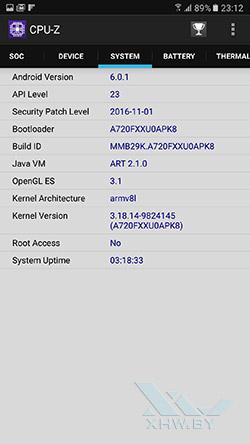 О системе Samsung Galaxy A7 (2017)