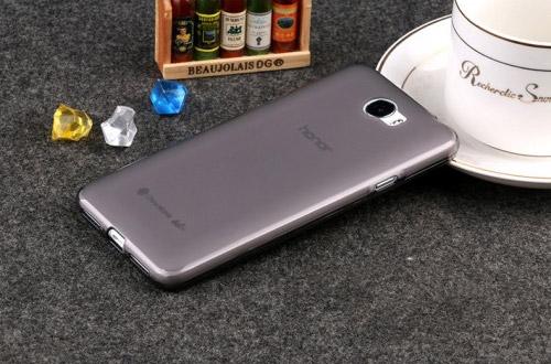 Силиконовый матовый полупрозрачный чехол для Huawei Y6 II Compact