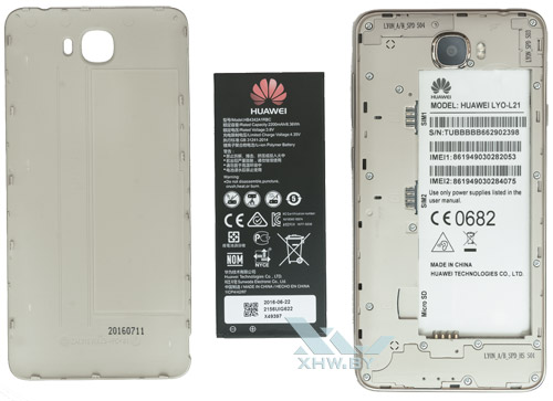 Внутри Huawei Y6 II Compact