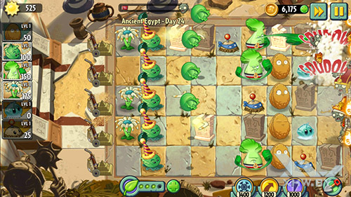 Игра Plants vs Zombies 2 на Senseit E510