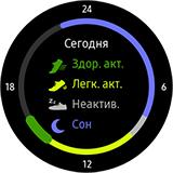 Приложение S Health на Gear S3. Рис 1