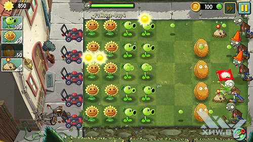 Игра Plants vs Zombies 2 на Huawei Mate 9